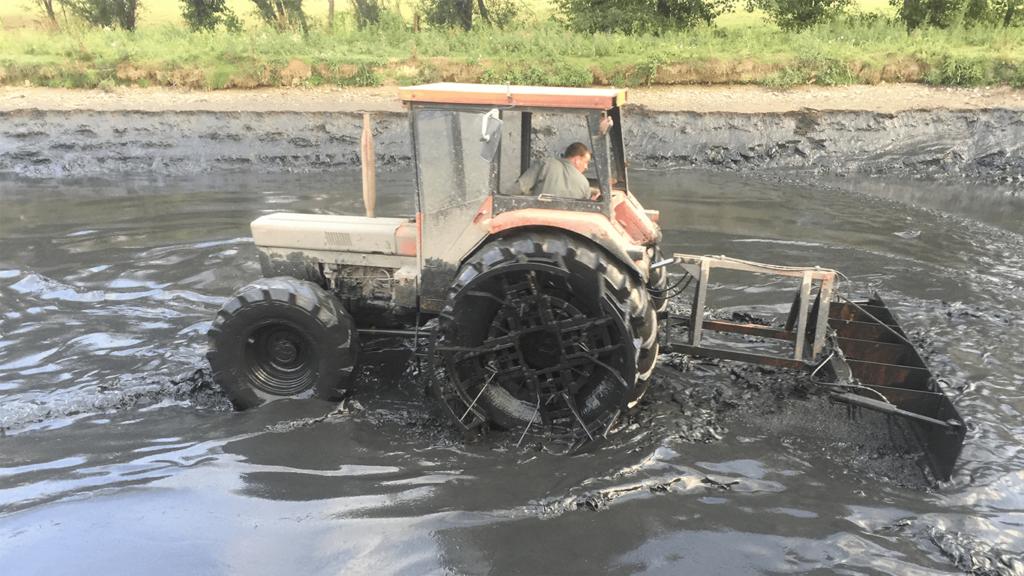 Prestation curage de lagunes
